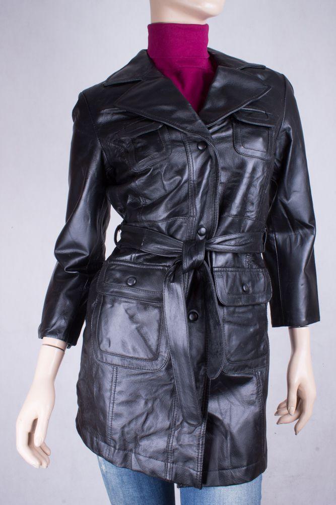 7fb317c54a9 Куртка кожаная черная Vivien Caron размер 42 в интернет-магазине todalamoda