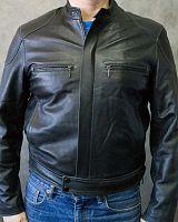 b283234a16d Мужская кожаная куртка BUDLE в интернет-магазине todalamoda